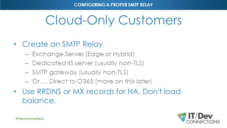 Configuring a Proper SMTP Relay for Exchange On-Prem and
