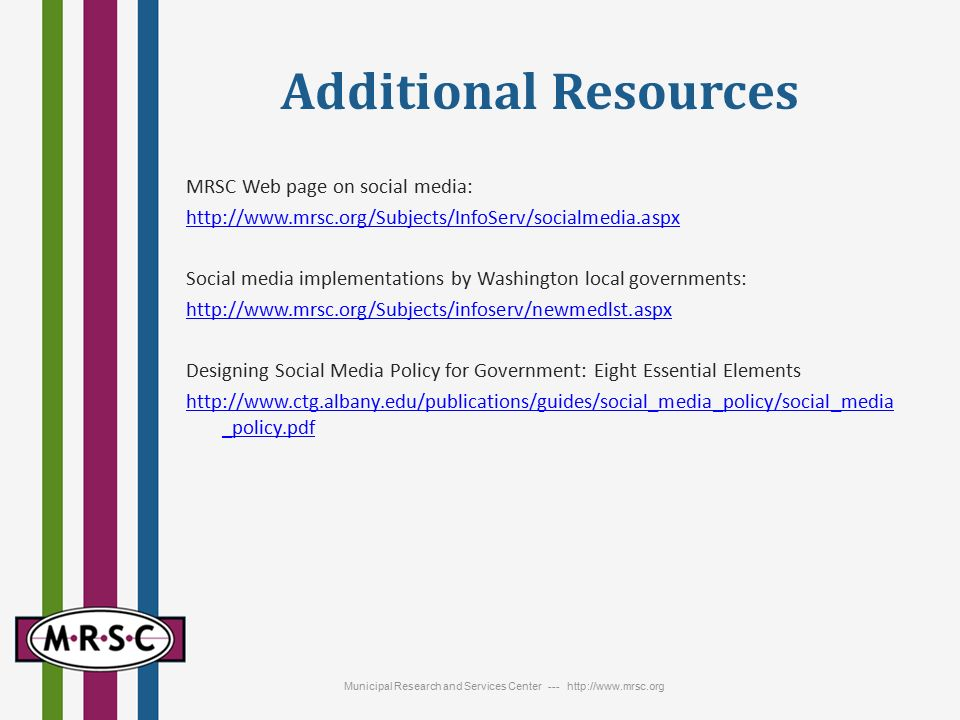 Social Media Local Government Uses And Policies Panel Discussion June 11 00 11 Ppt Download