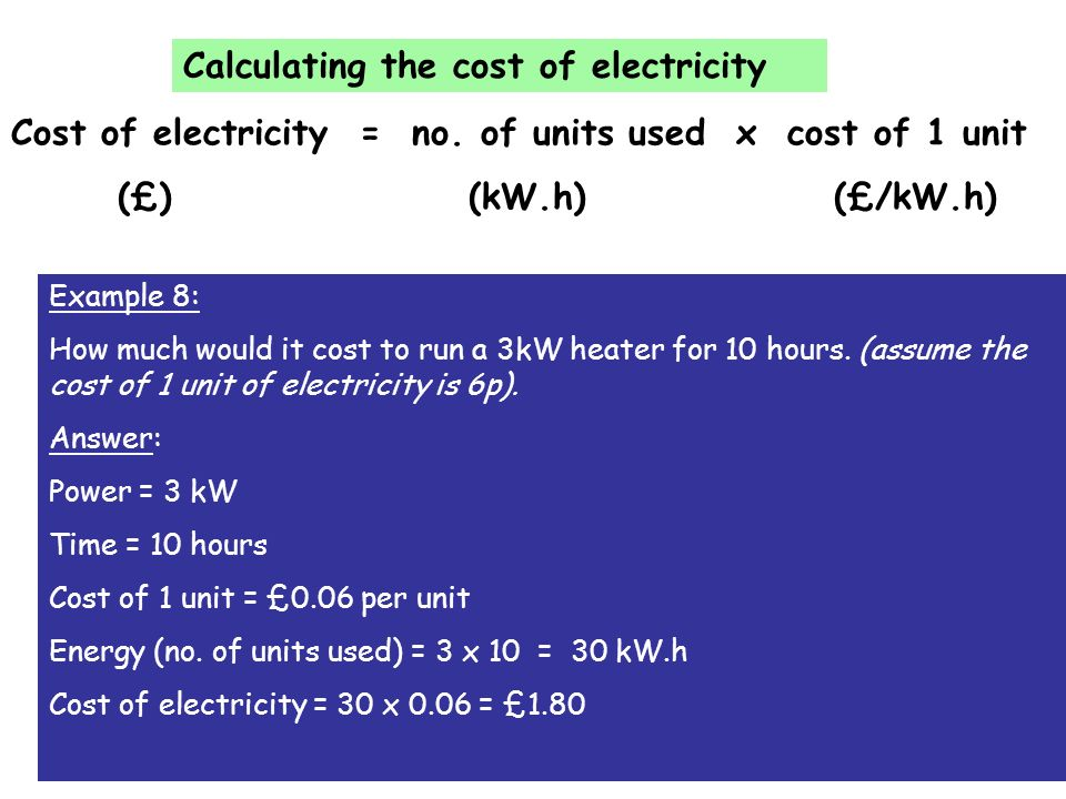 8 Calculating The Cost