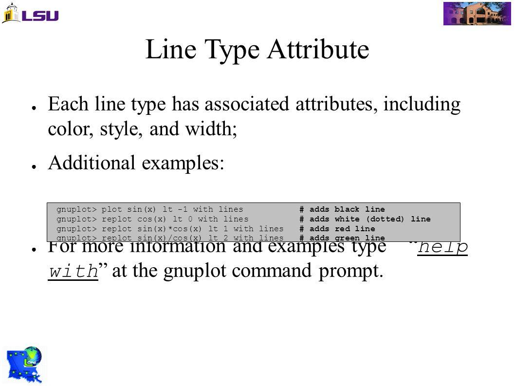 Using GNUPlot on LONI Resources B  Estrade  Objectives