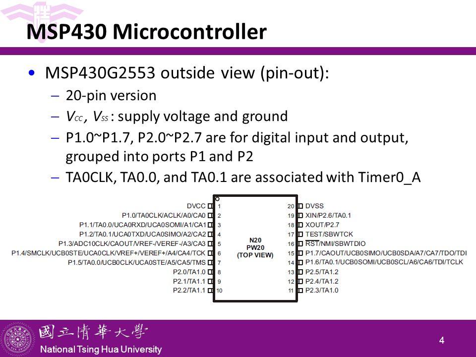 National Tsing Hua University CS4101 嵌入式系統概論