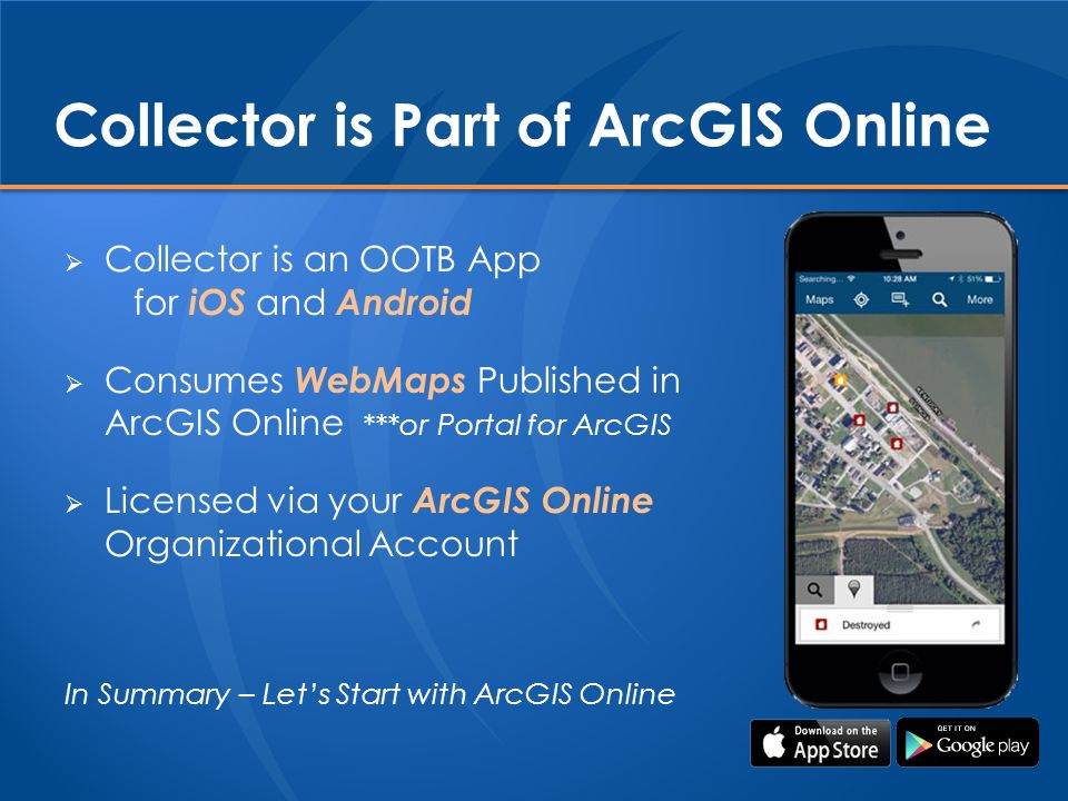 arcgis collector cannot download map