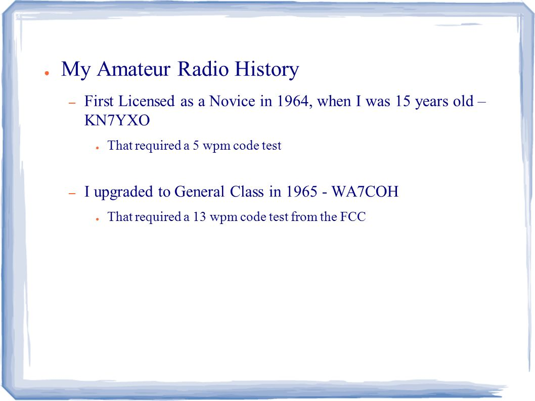 Morse Code 101 Introduction to Morse Code Estes Valley Amateur Radio