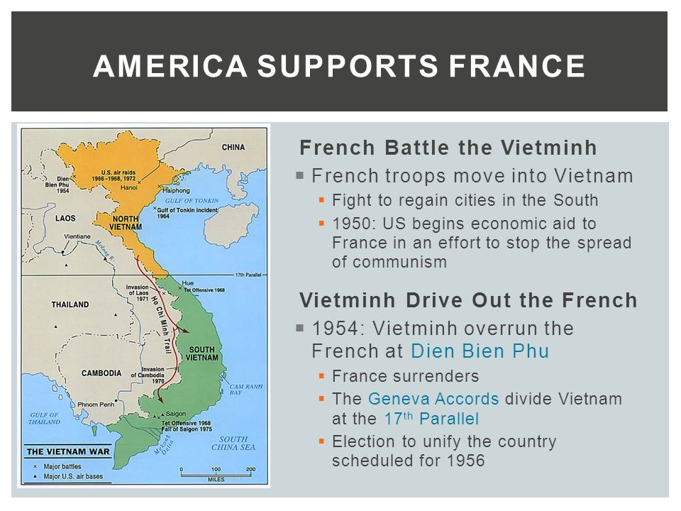 THE VIETNAM WAR YEARS  French Rule in Vietnam  Late 1800s – WWII