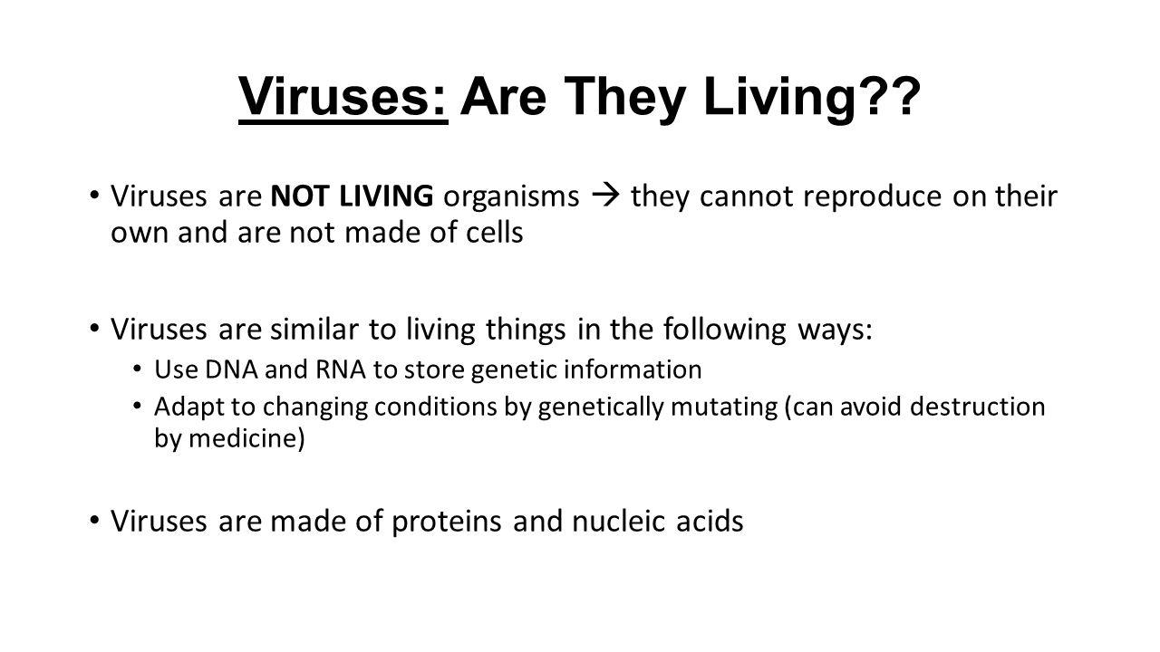 is a virus a living organism