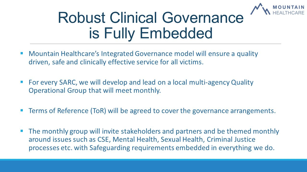 Sexual health nhs clinical governance