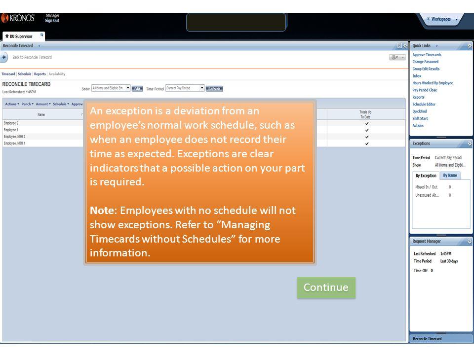 Kronos Information for DU Supervisors: Managing Timecard