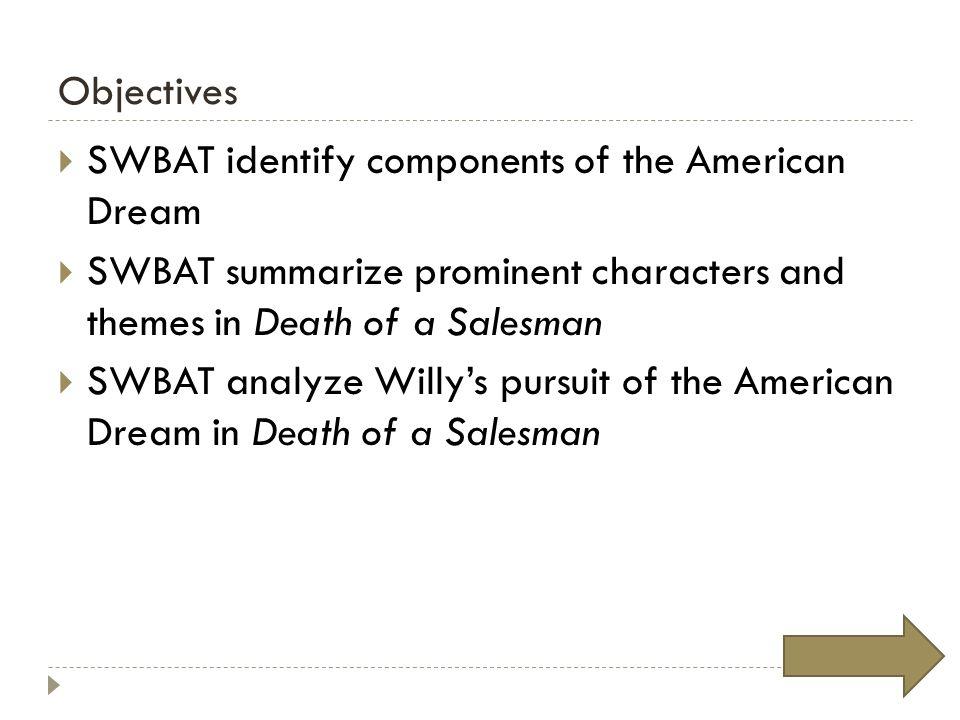 death of a salesman american dream theme