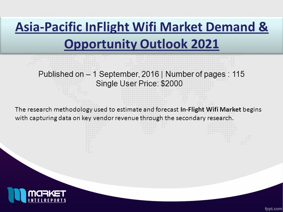 Asia-Pacific InFlight Wifi Market Demand & Opportunity