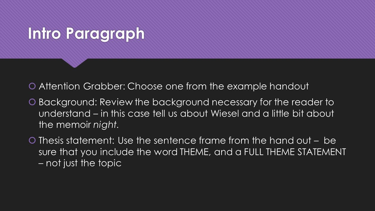 how to write a grabber for an essay