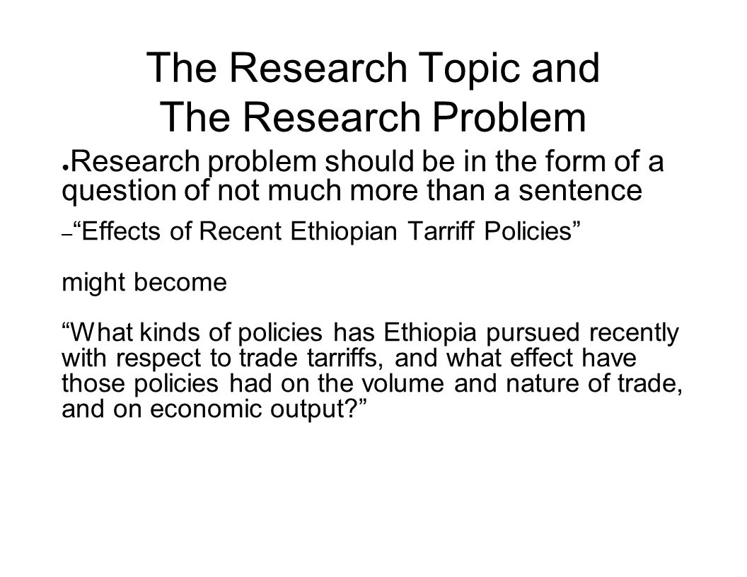 INTRODUCTION TO RESEARCH METHODS IN ECONOMICS Topic 3 Research