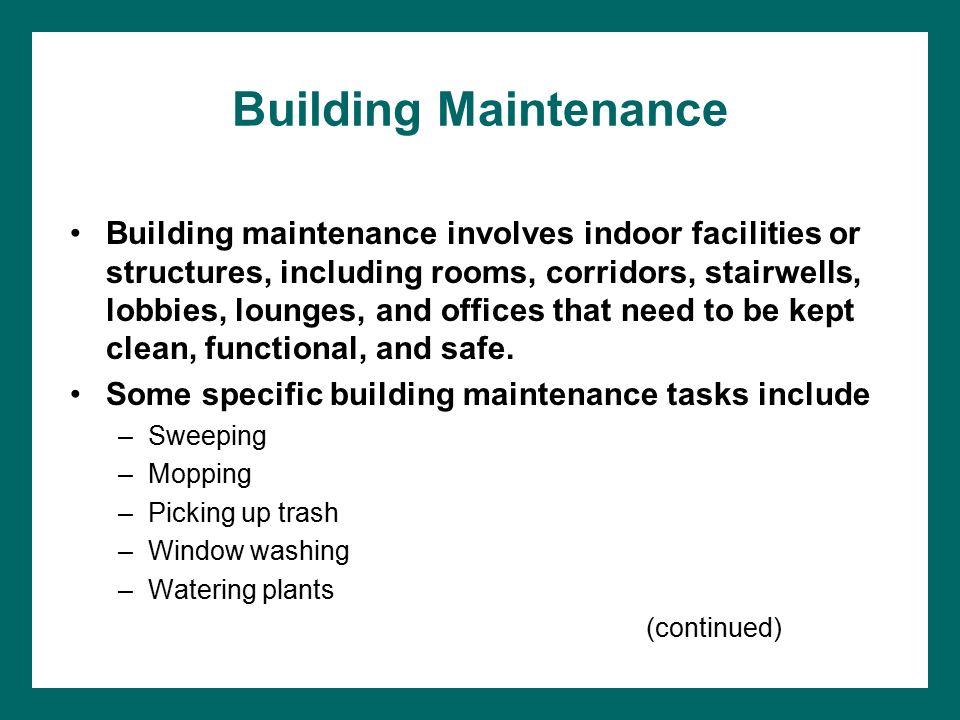 Chapter 14 Maintenance  Maintenance as a Management Function