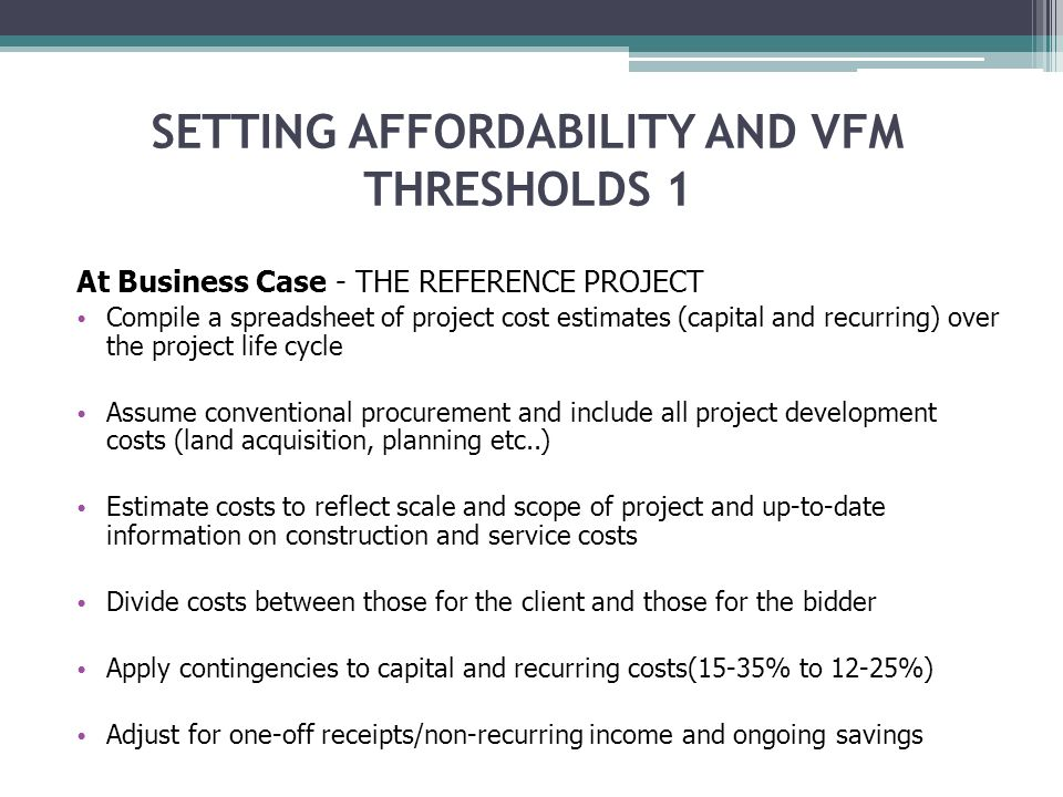 SESSION 4 Tuesday – Value for Money and Affordability  - ppt download