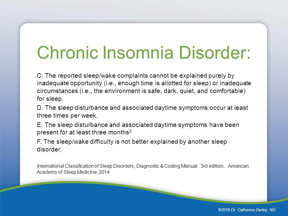 Cognitive- Behavioral Treatment for Insomnia Dr  Catherine