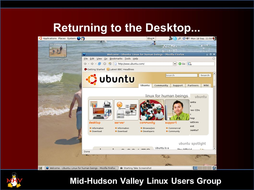 Mid-Hudson Valley Linux Users Group 1 DBUS – Linux Desktop Hacking