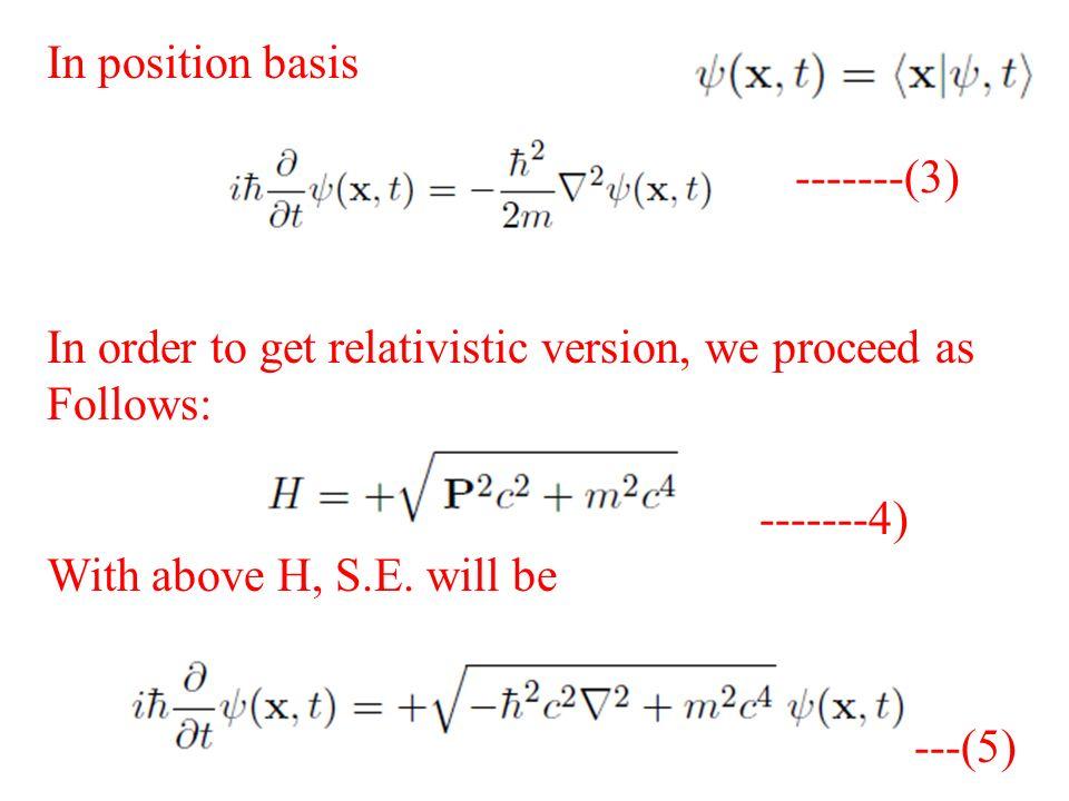 Relativistic Quantum Mechanics Lecture 1 Books Recommended