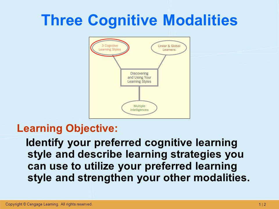 cognitive style and learning style Assessment | biopsychology | comparative | cognitive | developmental | language | individual differences | personality | philosophy | social | methods | statistics | clinical | educational | industrial | professional items | world psychology | social processes: methodology types of test.
