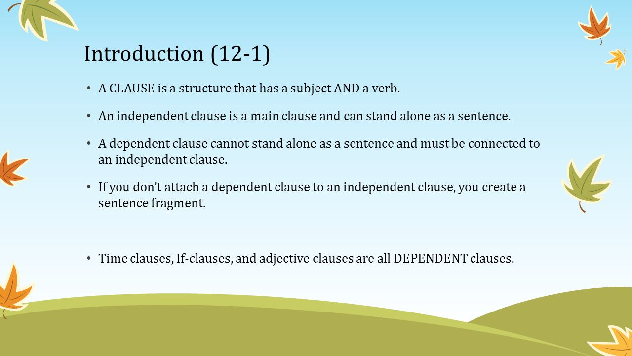 Adjective Clauses Chapter 12. Introduction (12-1) An ADJECTIVE ...