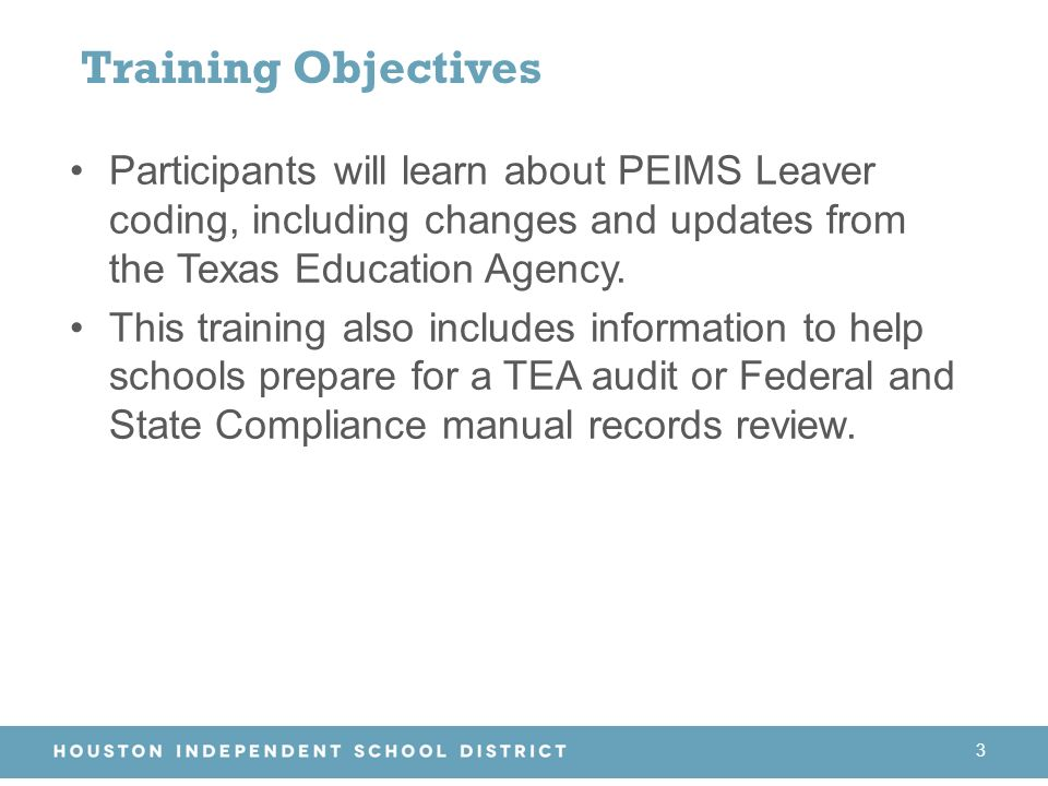 Peims Leavers Federal And State Compliance 2016 Ppt Download
