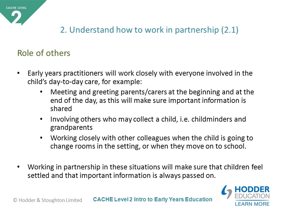 importance of partnership working with colleagues