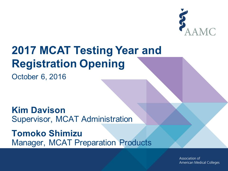 2017 MCAT Testing Year and Registration Opening October 6