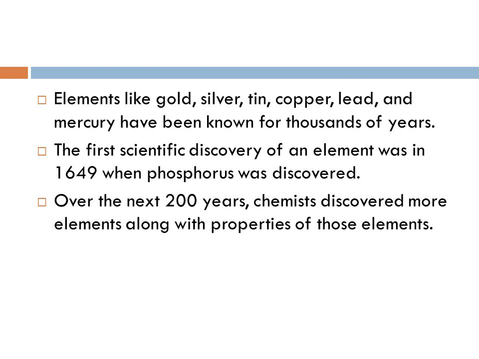 History Of The Periodic Table Elements Like Gold Silver Tin