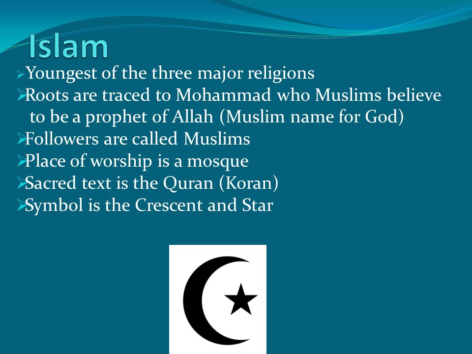 three major religions essay In conclusion, after reading and observing all major religions of the world (judaism, christianity and islam) are different in their concept of worshipping, fasting, festivals and tradition i found one significant thing in all major religions that they believed in one god and accepts of god existence.