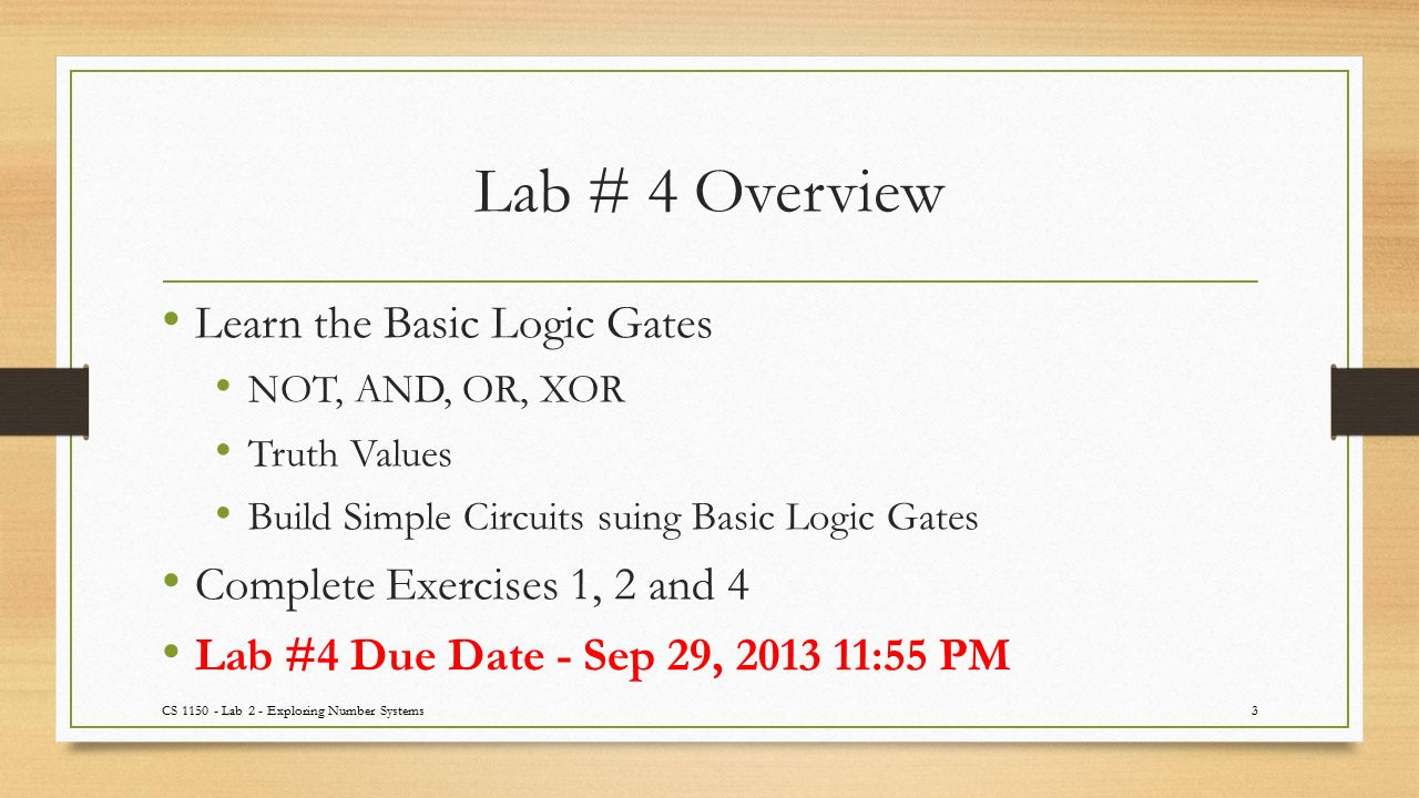 Cs 1150 Lab 4 Logic Circuits Ta Sanjaya Wijeratne Web Page Simple Circuit 3 Overview Learn The Basic Gates