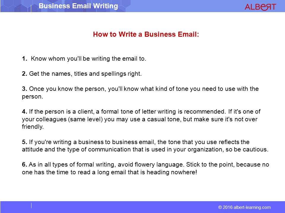 2016 albert learning business writing ppt download 2016 albert learning business email writing how to write a business email altavistaventures Choice Image