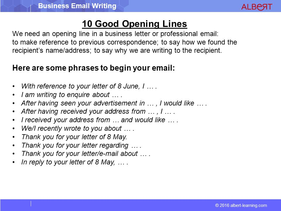 2016 albert learning com business writing ppt download