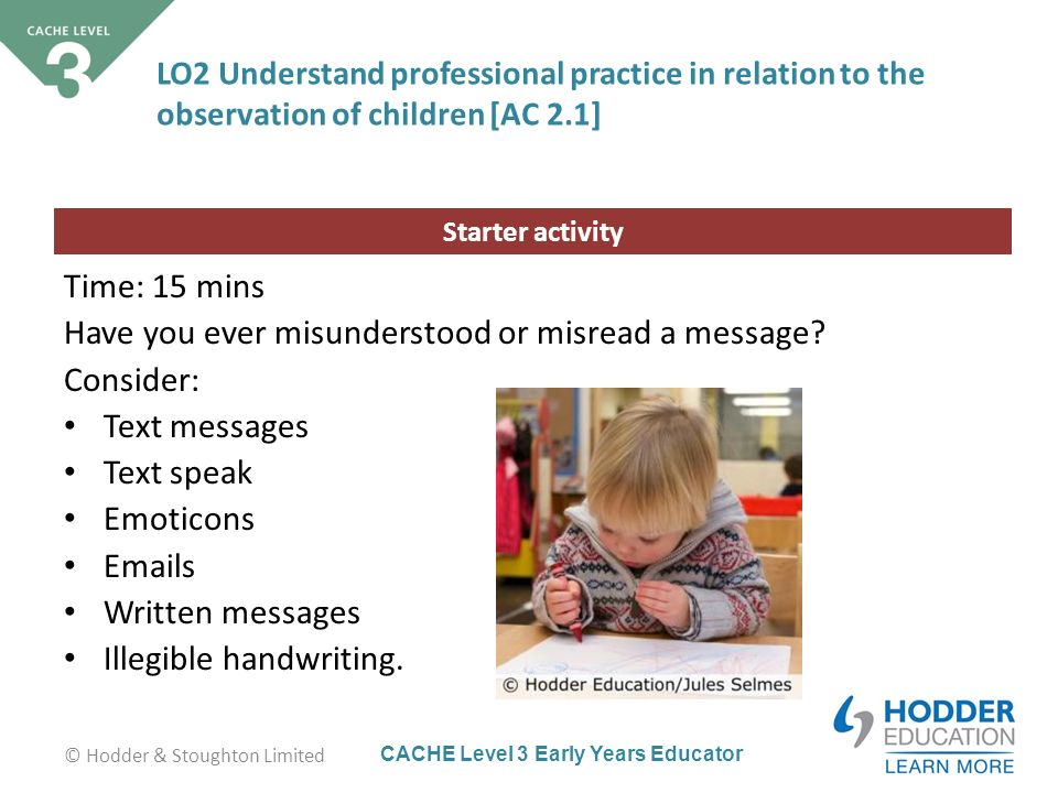 childcare and education level 2