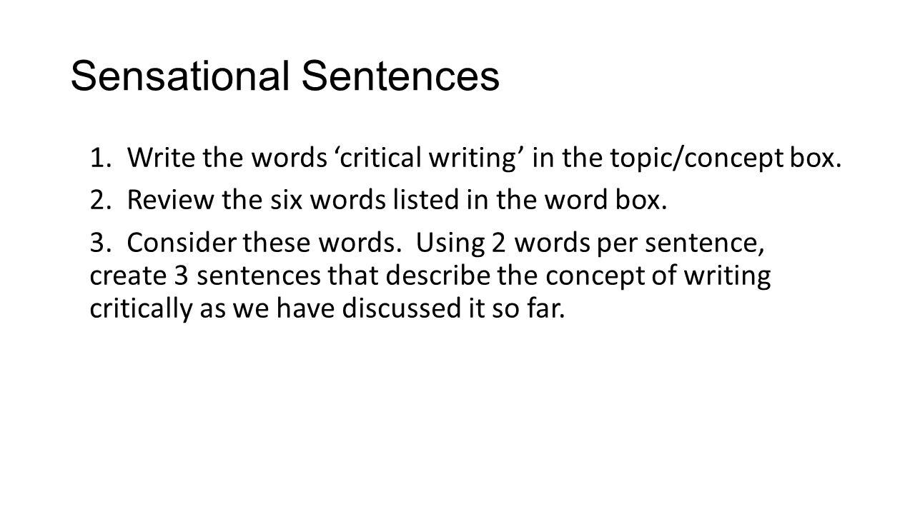 how to write critically