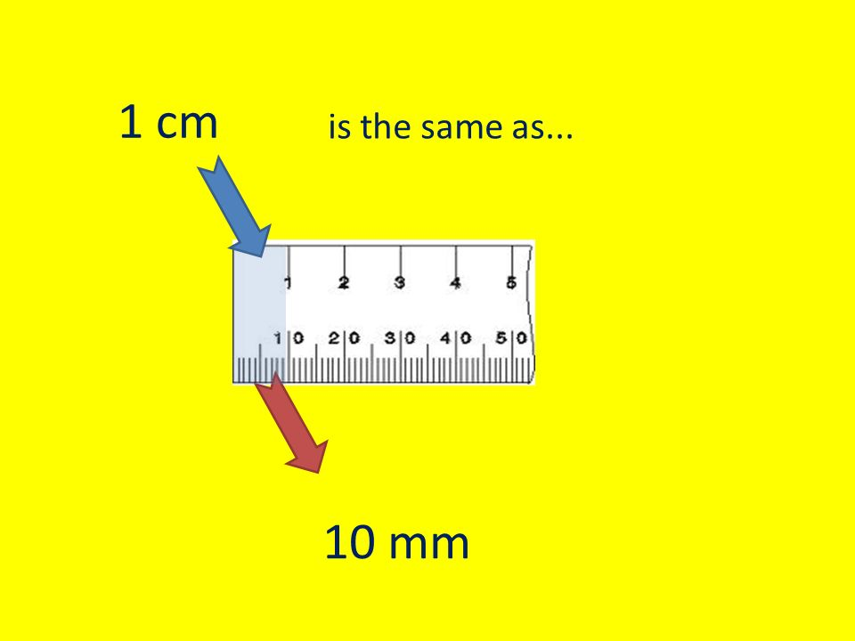 1 10 Mm Is The Same As 1 Cm
