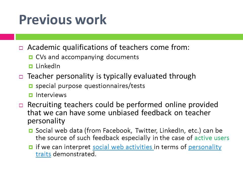 teacher personality traits