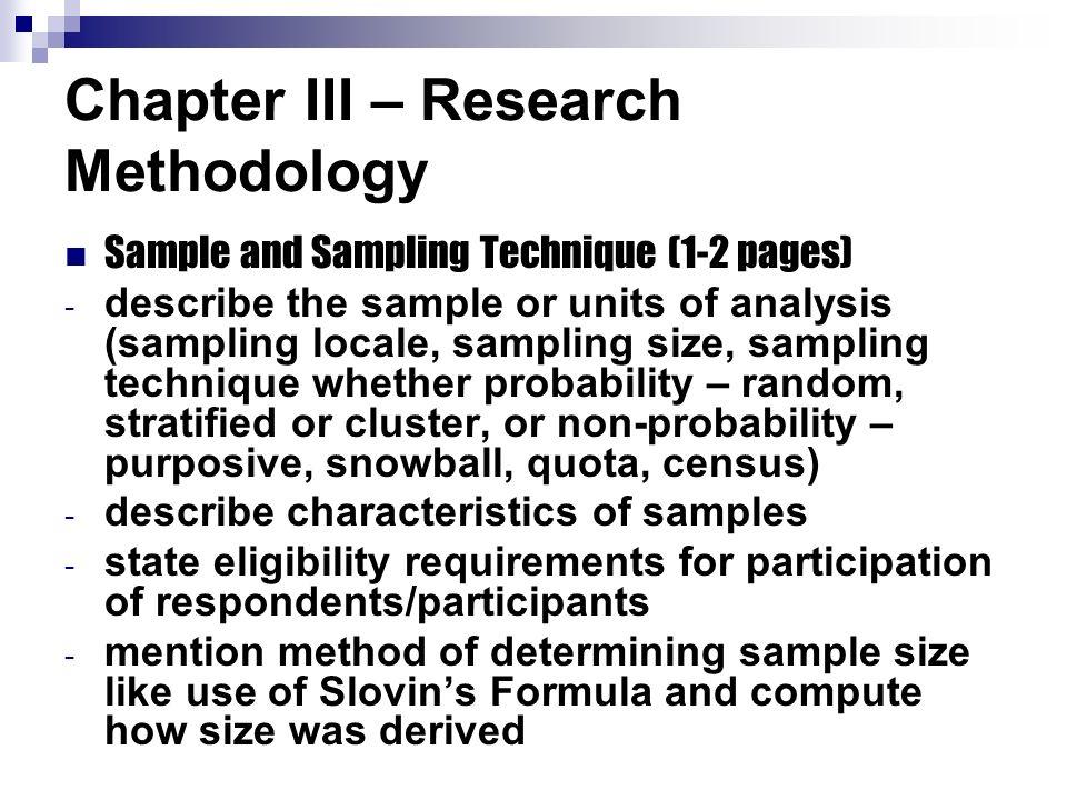 method sample in research paper
