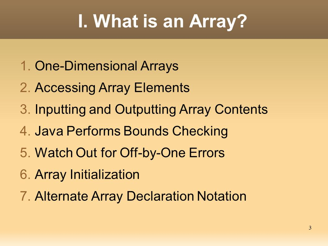 What is an array 2