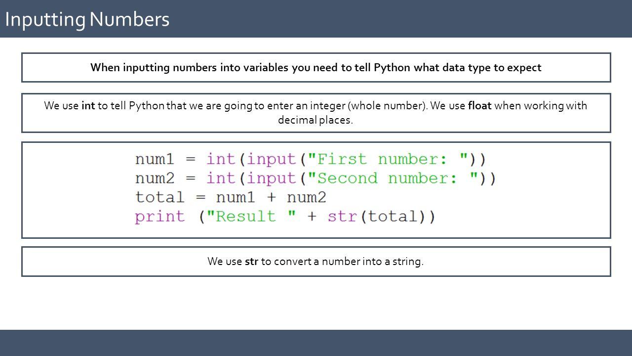 GCSE COMPUTER SCIENCE Practical Programming using Python