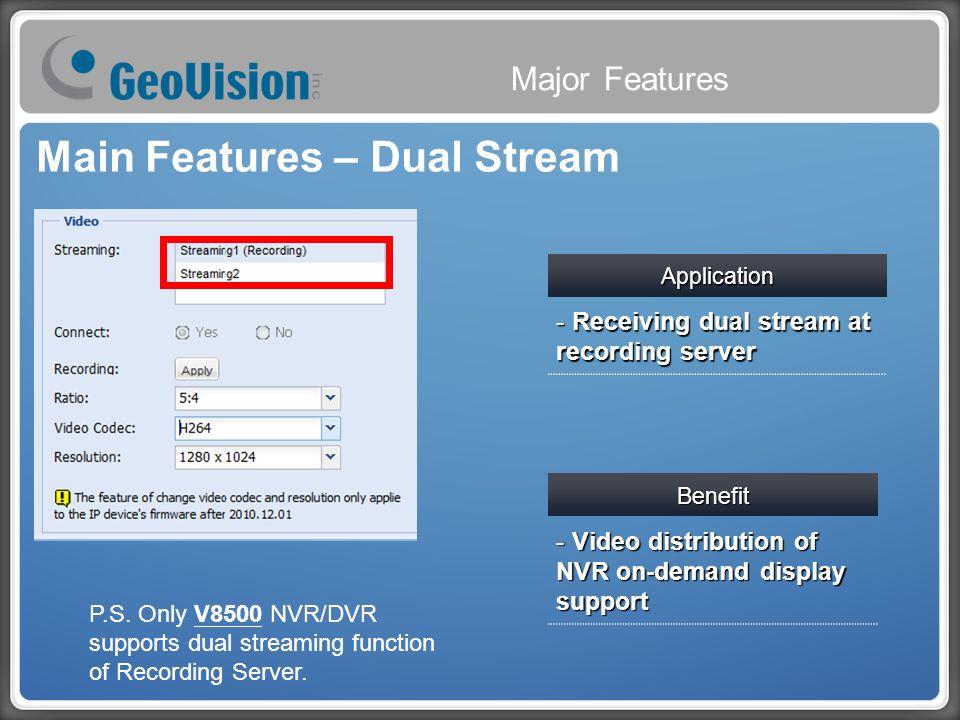 GeoVision Recording Server  2 GV-NVR LiteGV-NVRGV-Recording