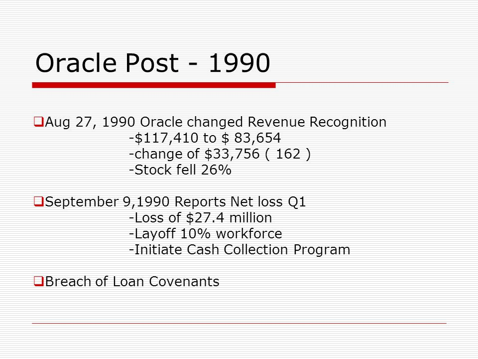 Oracle Systems Corporation Case Presentation/Discussion Brian