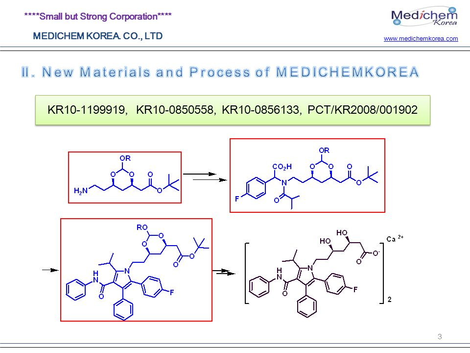 Small but Strong Corporation**** MEDICHEM KOREA  CO , LTD