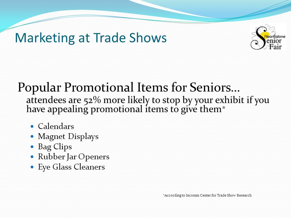 Hearthstone Senior Fair  Marketing at Trade Shows Ginny Boss