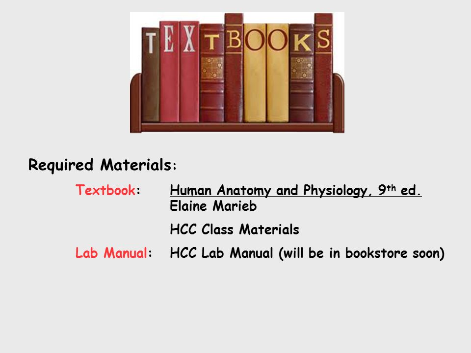 Welcome to Human Anatomy and Physiology II. Required Materials ...