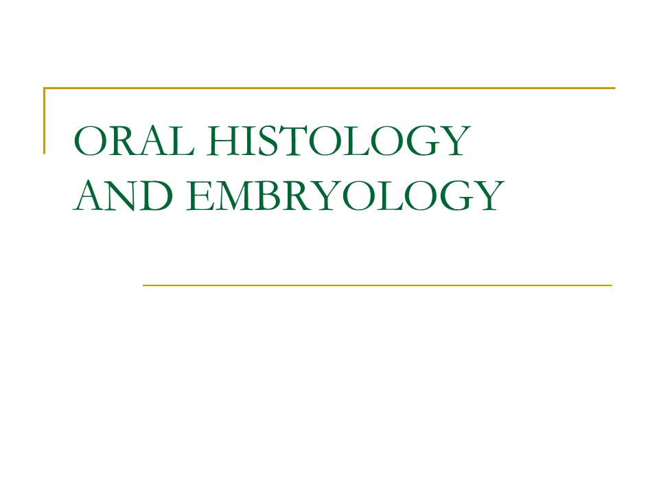 Oral Histology And Embryology Oral Histology Oral Histology Is The
