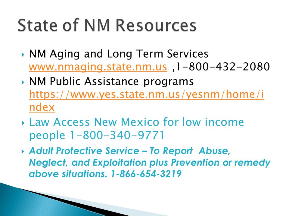 New mexico adult protective services