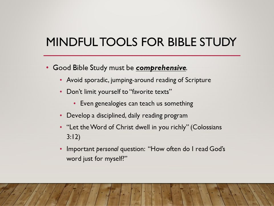 GET YOUR MIND RIGHT!!! NECESSITIES FOR ALL AROUND GOOD BIBLE STUDY