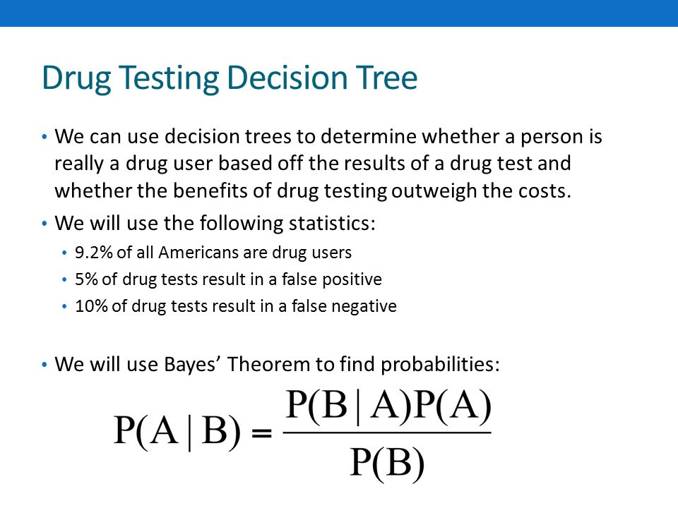 DECISION TREES AND DRUG TESTING Katie Turner Operations