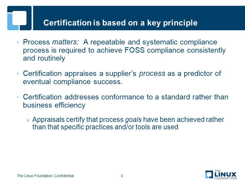 Foss Compliance Certification Program The Linux Foundation Ppt