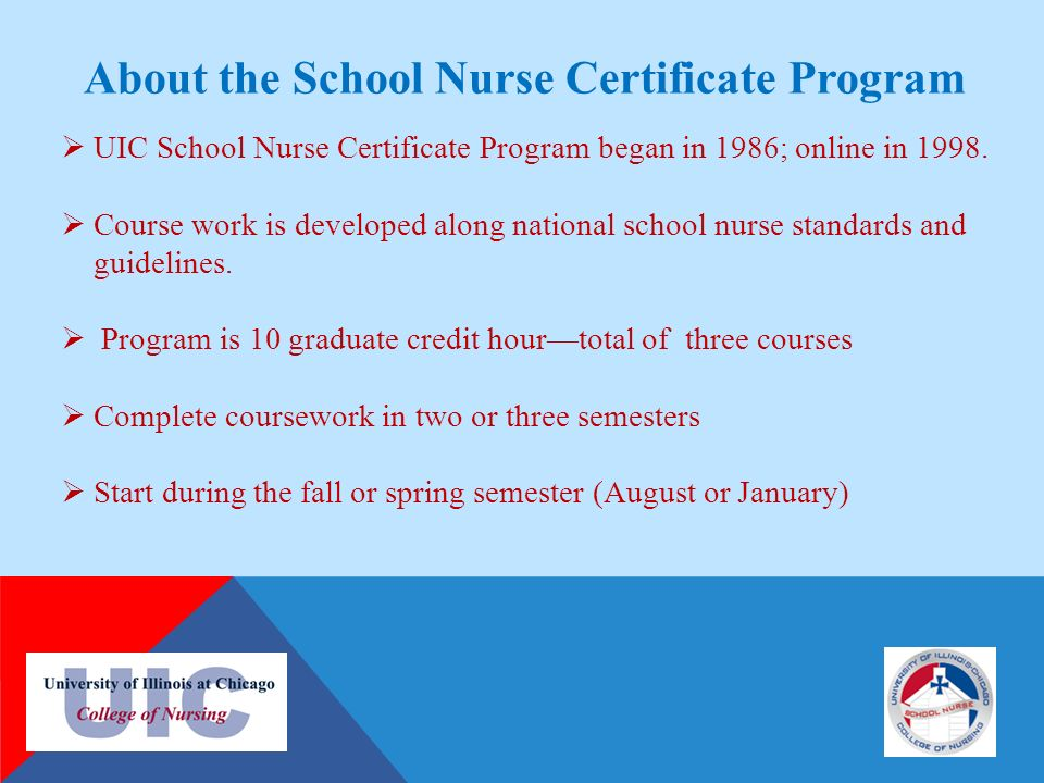Uic School Nurse Certificate Program Institute For Health Care