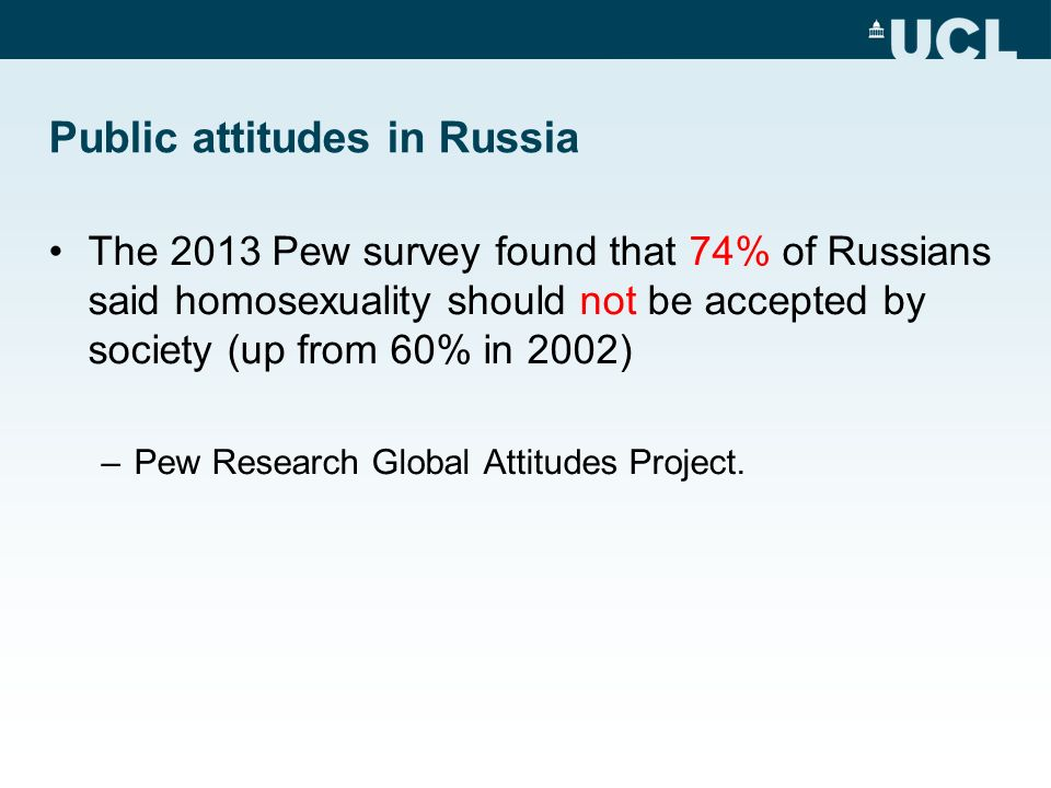 Pew global attitudes project homosexuality statistics