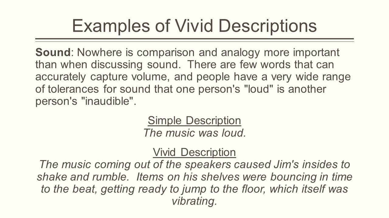 vivid description examples